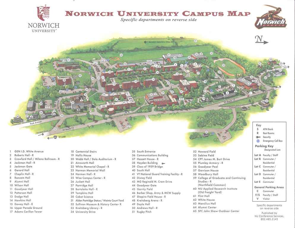 Norwich University Campus Map Norwich University Campus Map | woestenhoeve